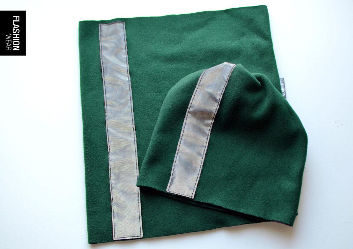 Koplekts - Atstarojošā Cepure un Tuneļ Šalle