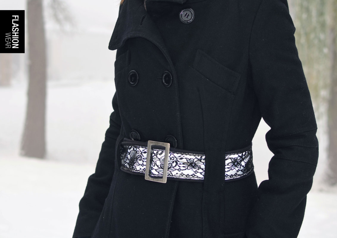 Reflective belt with lace