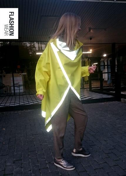 Atstarojošs mētelis - Dzeltena Lietus Jaka (seši vienā)