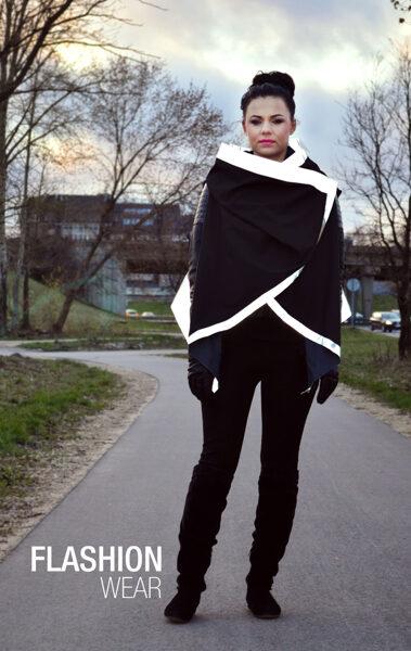 Reflective vest - BLACK (6in1)