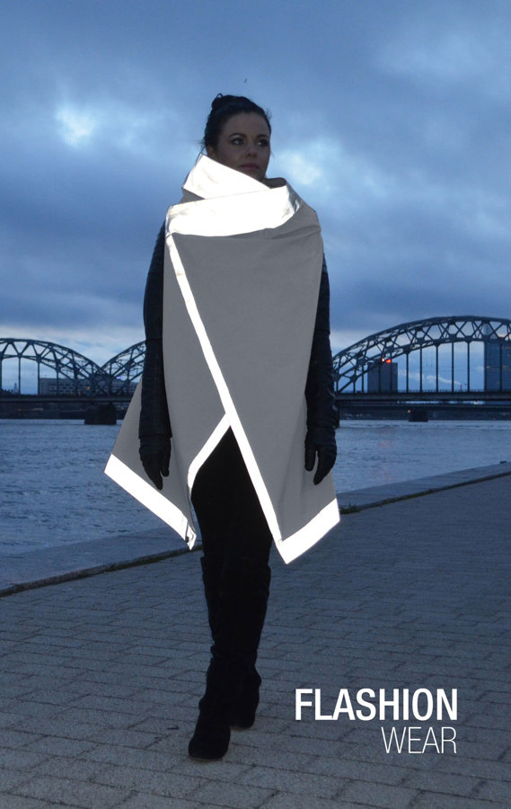 Reflective vest - GRAY (6in1)