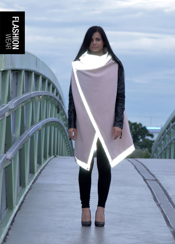 Reflective vest (wool) - light pink (6in1)