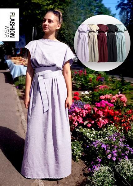 Lina kleita ar jostu