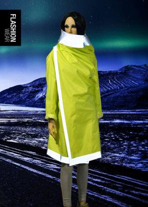 Atstarojošs lietus mētelis - Neona dzeltens (seši vienā)