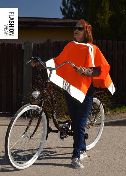 Unisex Cloak, Reflective Cape - Neon Orange