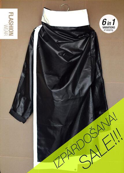 UNISEX Black Reflective Rain Jacket - waterproof - 6in1