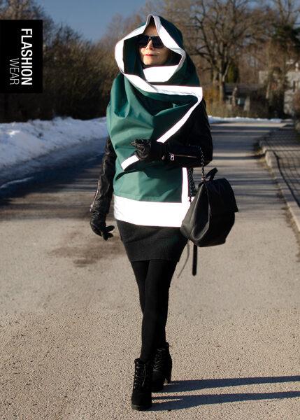Atstarojoša veste - Tumši zaļa (seši vienā)