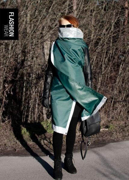 Reflective vest - Dark green (6in1)
