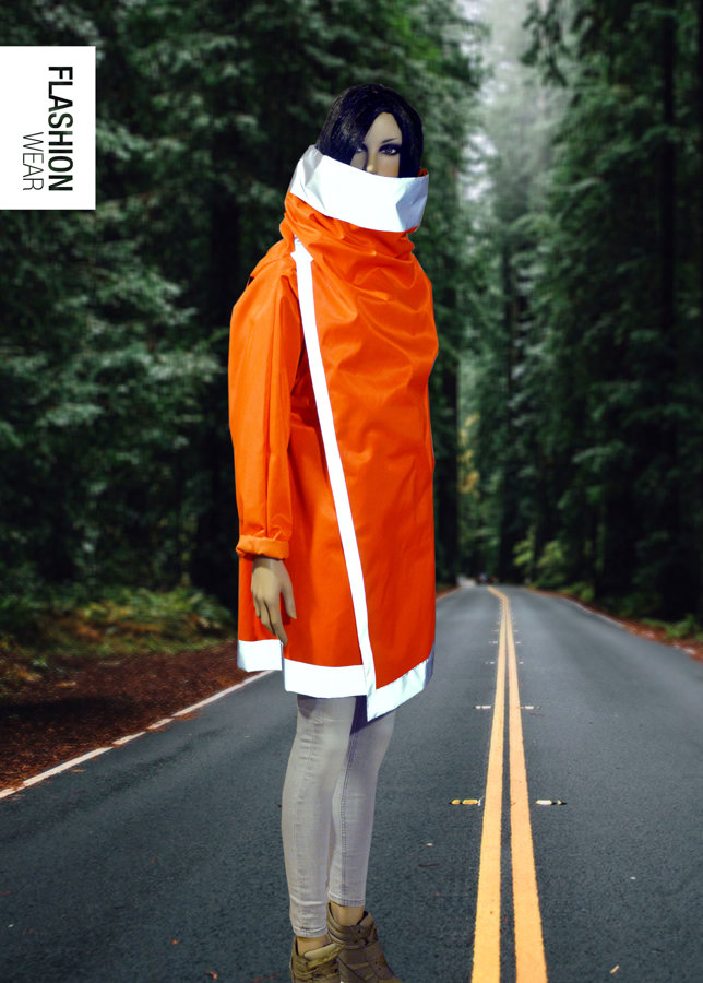 Atstarojoša jaka-  Neona Oranža, ūdens atgrūdoša (seši vienā)