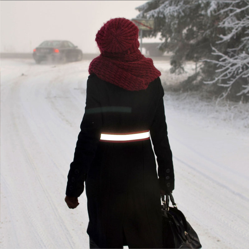 Be visible - Stylish hi-viz Reflective Belt for high way walk, dog walking - FLASHION WEAR