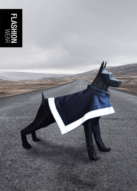 Stylish hi-viz Reflective vests, coats and jackets for dogs - FLASHION WEAR