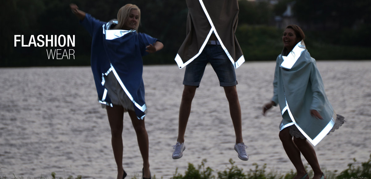 FLASHION WEAR -  stylish reflective jackets for adult, teenagers and kids